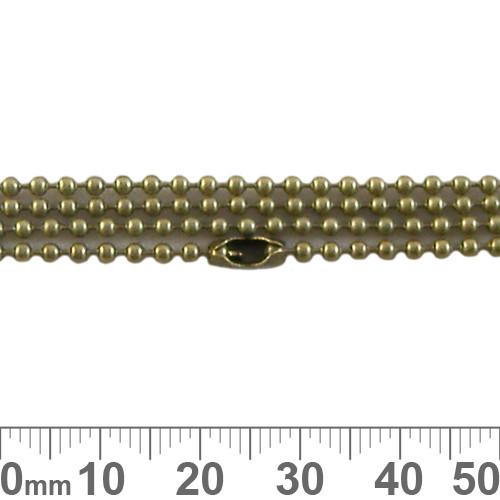2mm Ball Chain - Bronze