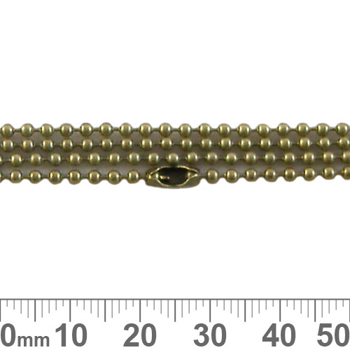 2mm Ball Chain - Bronze