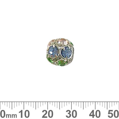 14mm Sparkly Silver Diamante Metal Ball (Spring)