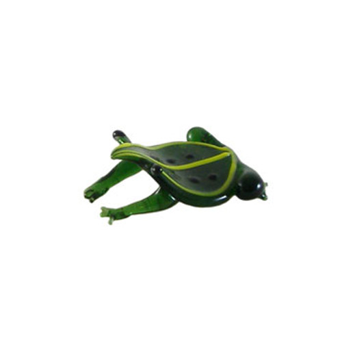 Small Green Glass Frog Ornament