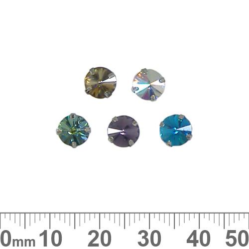 6mm Metal Backed Round Diamante