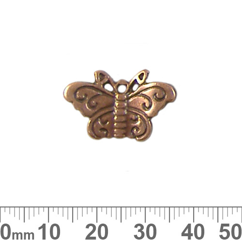 BULK 22mm Copper Butterfly Metal Charms