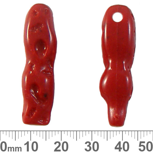 Coral 11mm Stick Resin Beads