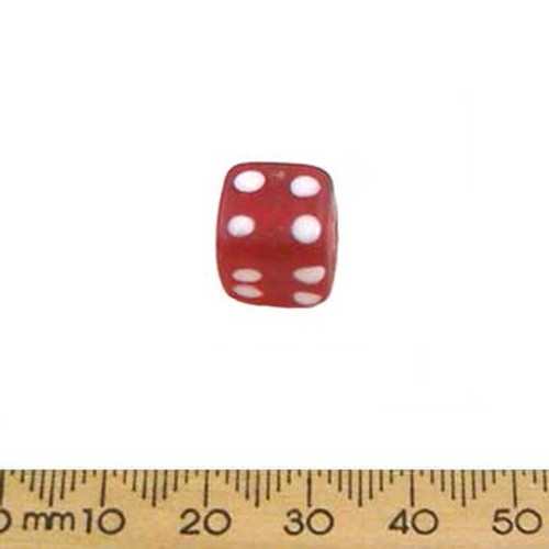 Red Frosted Cube Beads