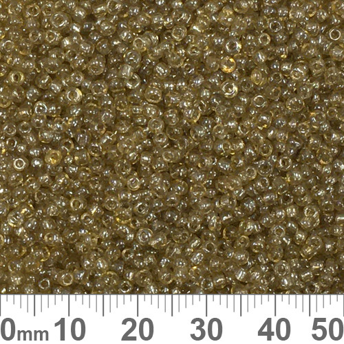 11/0 Pale Amber Lustre Seed Beads