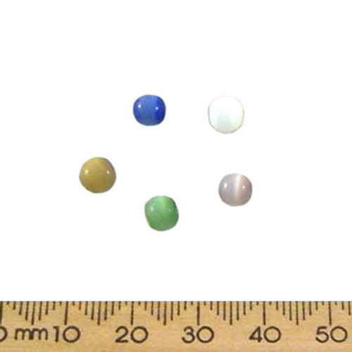 5mm Glass Cats Eye Bead Mix