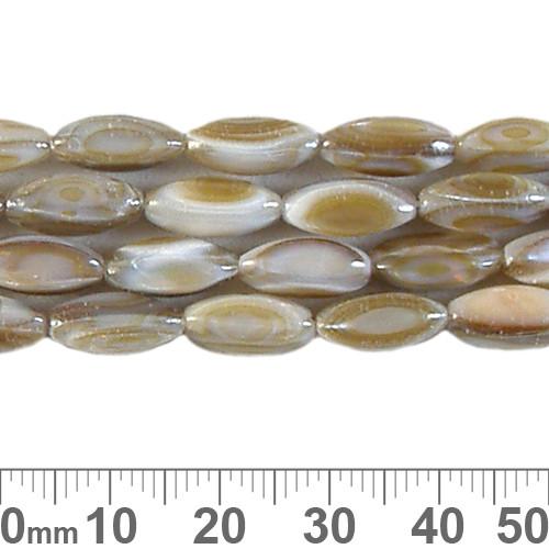 10mm Natural Rice Shell Bead Strands
