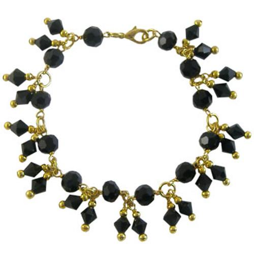 Black & Golden Crystal Charm Bracelet Kit