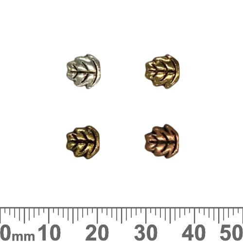 Elm Leaf Metal Beads