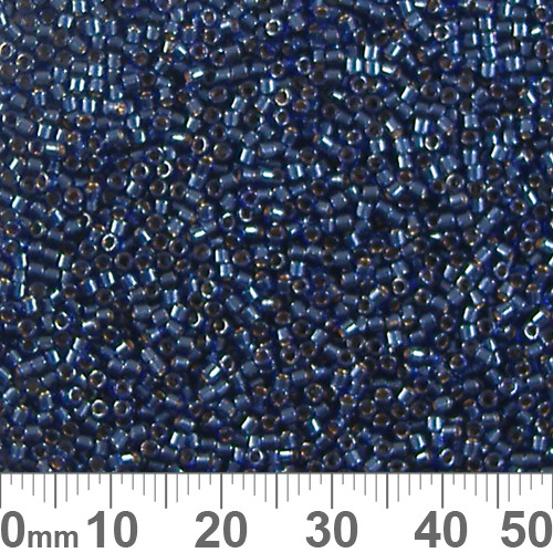11/0 IC Dyed Purple Iris Luster Delica Seed Beads