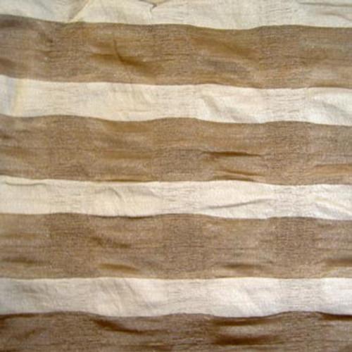 Soft Striped Coffee Scarf