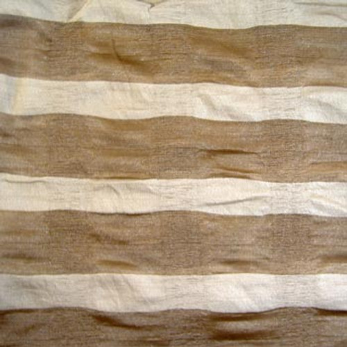 Soft Striped Coffee Scarf