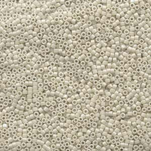 11/0 Opaque Cream Glazed Luster Delica Seed Beads