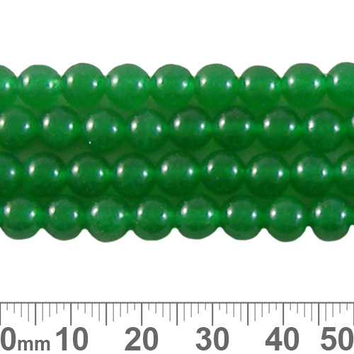 Dyed Green Chalcedony 6mm Round Beads