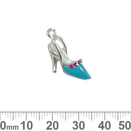 Aqua Heels Enamel Metal Charm