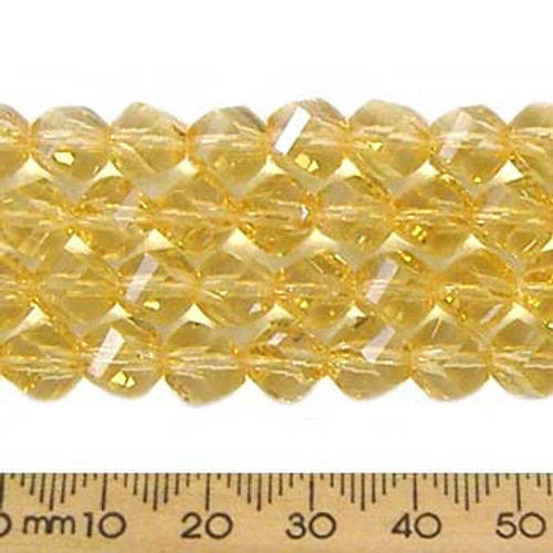Light Amber 7mm Helix Glass Crystal Strands