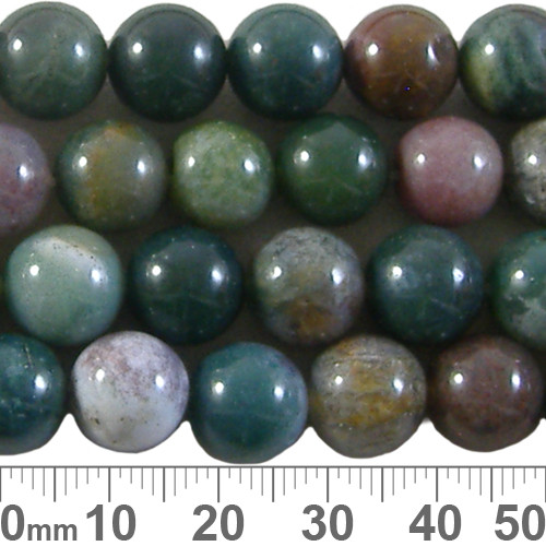 Forest Fancy Jasper 10mm Round Beads