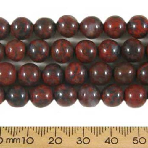 Poppy Jasper 8mm Round Beads