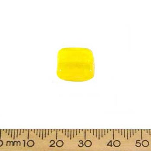 Yellow Large Flat Square Beads