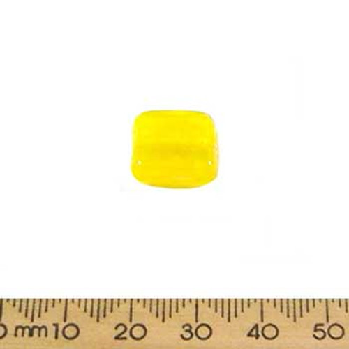 Yellow Large Flat Square Beads
