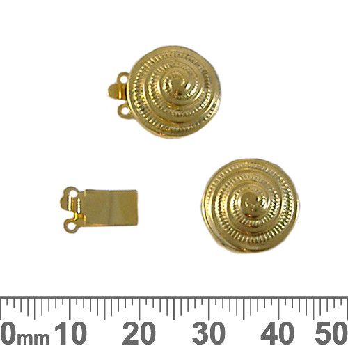 CLEARANCE 15mm Round Swirl Two Strand Box Clasp