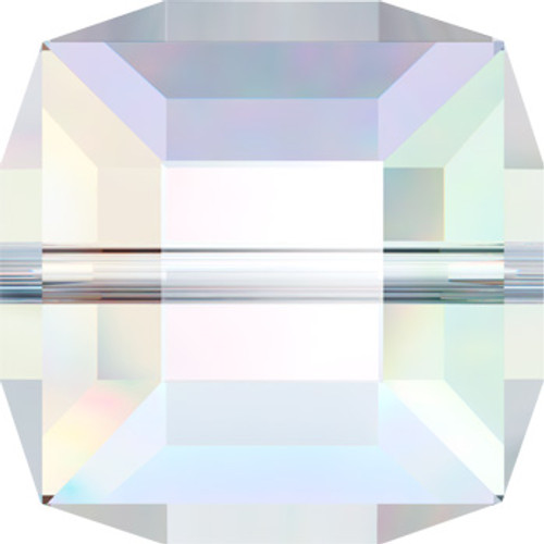 10mm Crystal AB Swarovski® Cube Beads