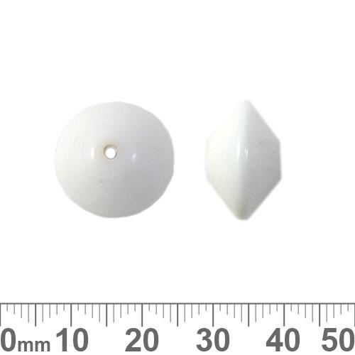 17mm White Rondelle Glass Beads