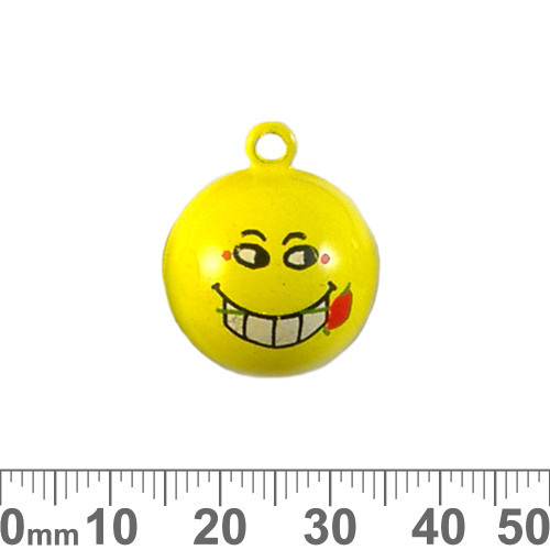Large Yellow Cheeky Emotion Bell