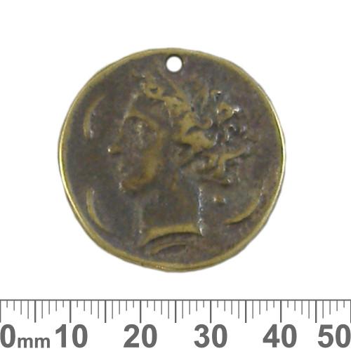 32mm Bronze Roman Coin Metal Pendant