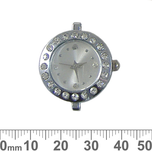Bright Silver Sparkly Round Watch Face
