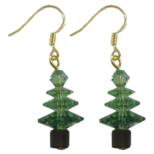 Swarovski Erinite Christmas Tree Crystal Earrings Kit