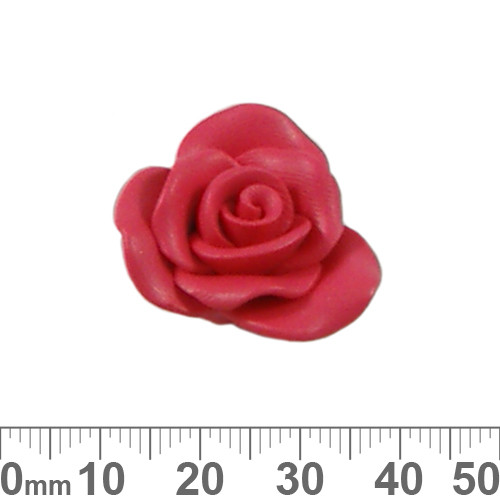 Red Rose Clay Flower Beads