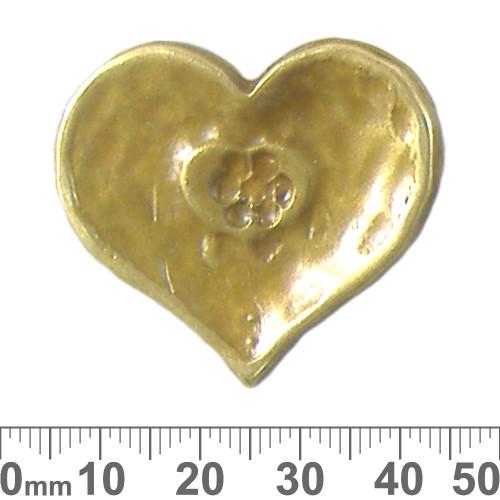 Bronze Pivot Heart Metal Pendant