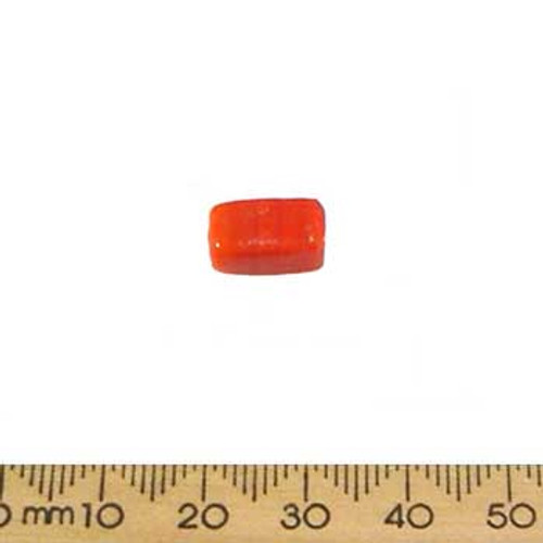 Orange Medium Opaque Rectangular Glass Beads