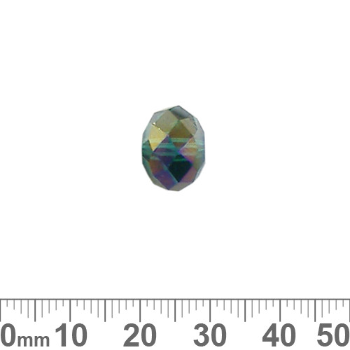 Teal AB 12mm Rondelle Glass Crystal Bead