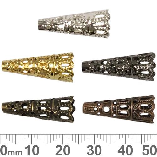 Long Decorative Bead Caps