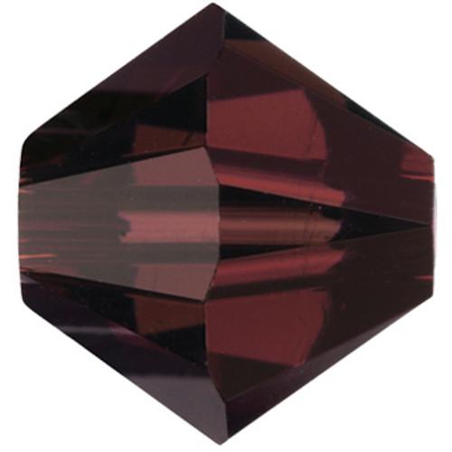 4mm Burgundy Swarovski® Bicone