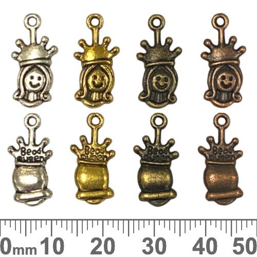 BULK Bead Queen Metal Charms