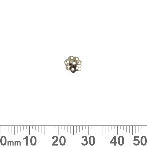 6mm Thin Filigree Sterling Silver Bead Cap