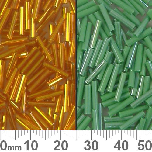 Small Bead Mixed Vials - Orange/Green