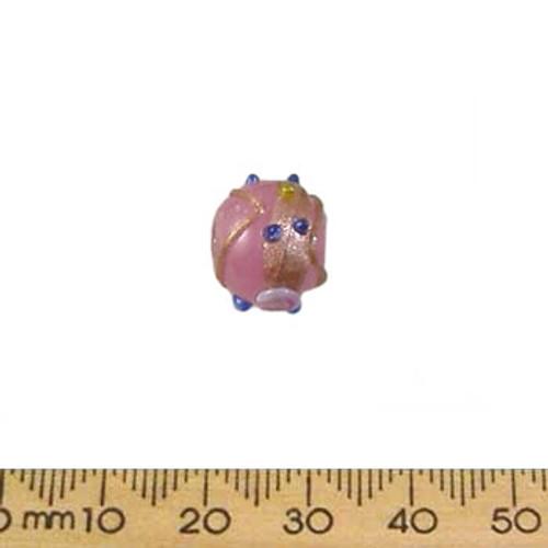 Opaque Pink 10mm Round Wedding Cake Glass Beads