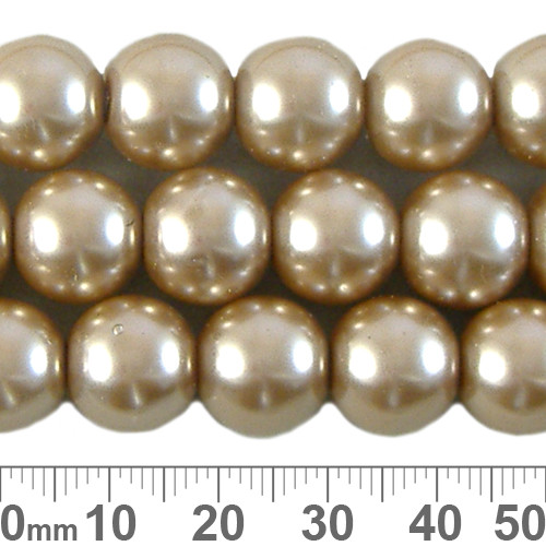 CLEARANCE 12mm Bronze Glass Pearl Strands