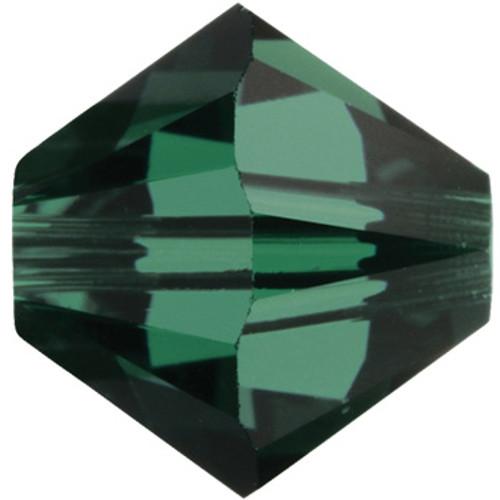 BULK 4mm Emerald Swarovski® Bicones