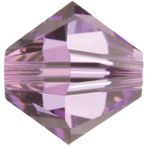 BULK 4mm Light Amethyst Swarovski® Bicones