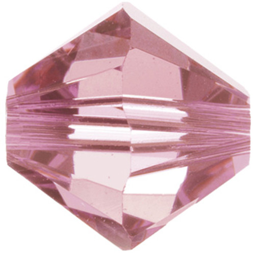 BULK 4mm Light Rose Swarovski® Bicones