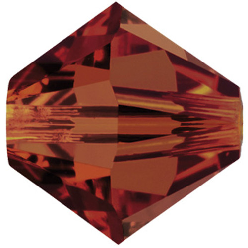 BULK 4mm Crystal Red Magma Swarovski® Bicones