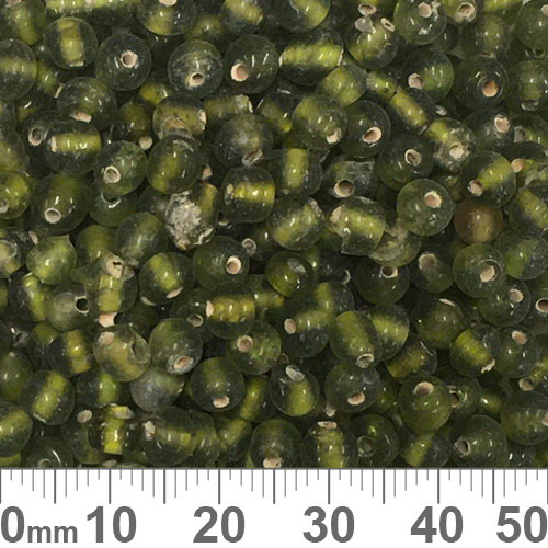 Olive Green 5mm Round Glass Beads