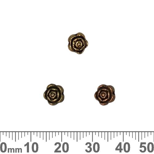BULK Rose Metal Beads