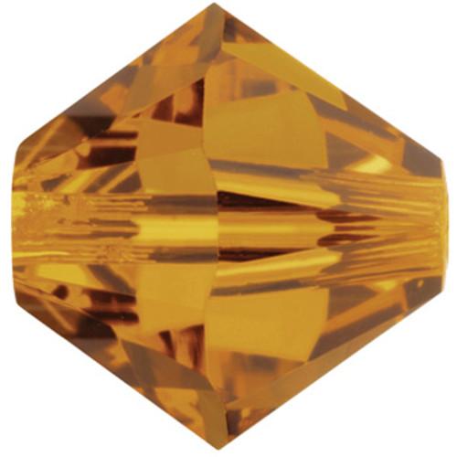 BULK 8mm Crystal Copper Swarovski® Bicones