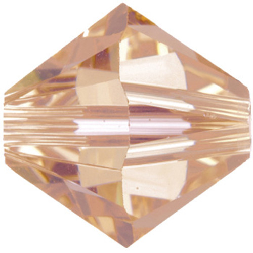 CLEARANCE 40 x 6mm Light Peach Swarovski® Bicones